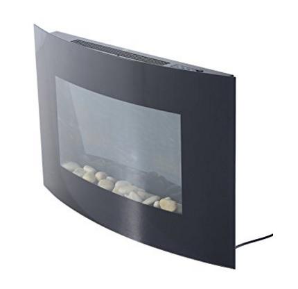 Caminetto elettrico in acciaio inossidabile vetro temperato