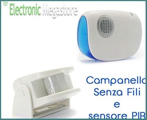 Campanelli Senza Fili Gbc Sensore Di Movimento