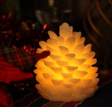 Candela A Forma Di Pino Led Per La Festa Di Natale