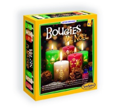 Candele Colorate E Profumate Con Disegni Per Natale