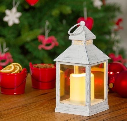 Lanterna Con Candela Classica Per Natale
