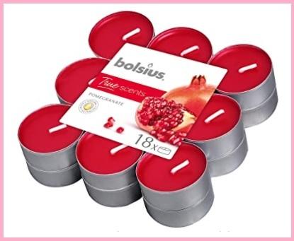 Candeline profumate rosse