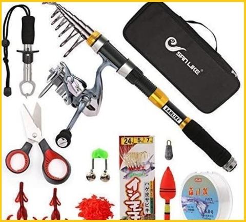 Canna da pesca completa con accessori