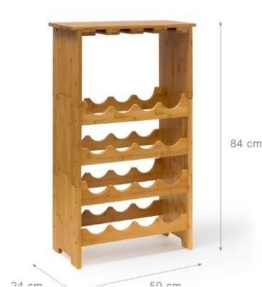 Cantinetta vino in legno di bambù
