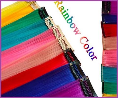 Capelli colorati bambina