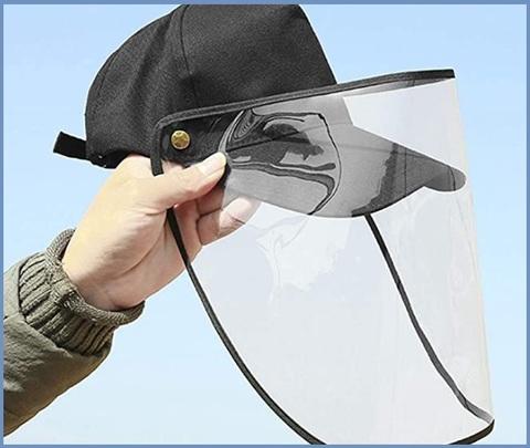 Cappellino Visiera Uomo Trasparente