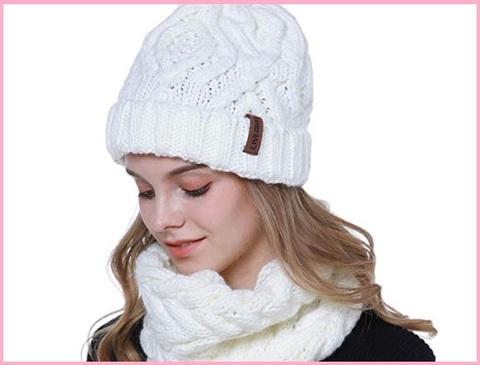 Cappello donna invernale bianco