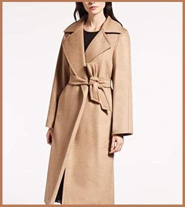 Cappotto cammello con cintura donna