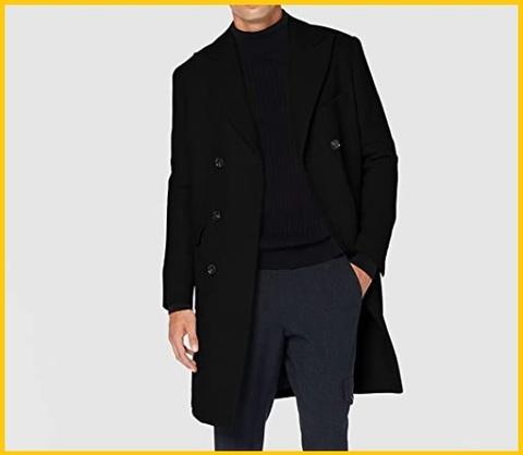 Cappotto nero elegante