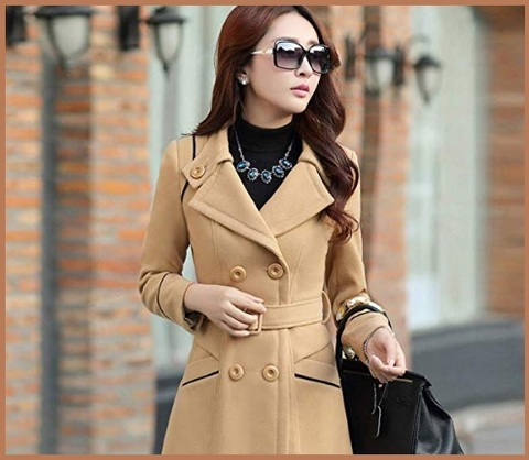 Cappotto cammello donna