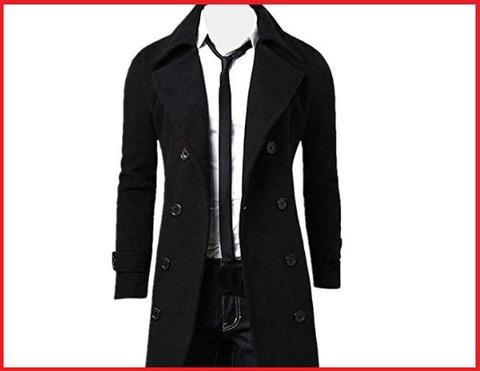 Cappotto lungo uomo nero