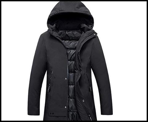 Cappotto nero uomo inverno