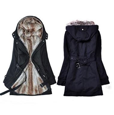 Parka moderna di moda invernale con pelliccia