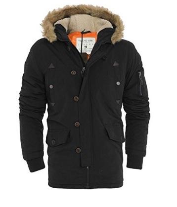 Cappotto invernale pesante con cappuccio uomo parka