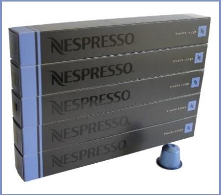 Nespresso capsule azzurro dal gusto vivalto lungo