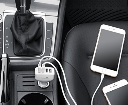 Caricabatteria Auto Usb 4 Porte Versatile