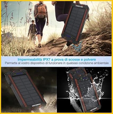 Caricabatterie Solare Portatile Universale Potente