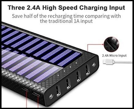 Caricabatterie solare portatile