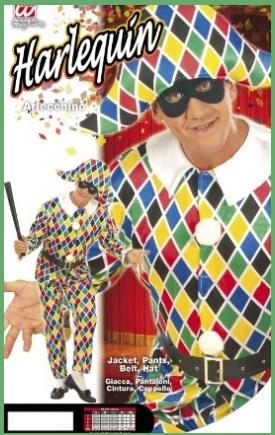 Costume di carnevale arlecchino costume