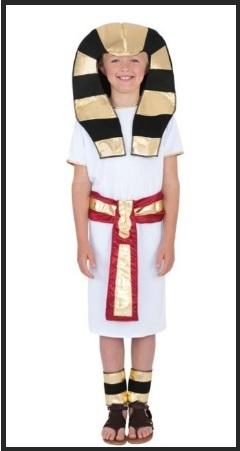Boland-Faraone Egizio Tutankhamon costume adulto Taglia M Uomo, Bianco, BOL83858