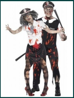 Vestito di carnevale per la coppia zombie