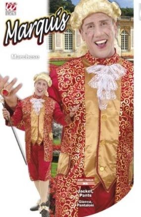 Costume marchese dell'600 in velluto