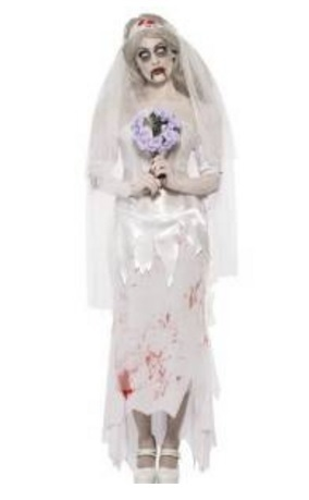 Sposa cadavere zombie per halloween