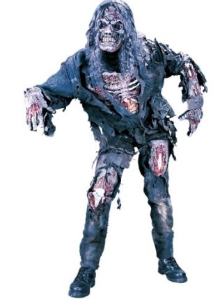 Costume intero da zombie per halloween