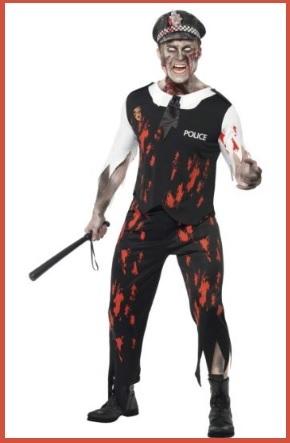 Costume da poliziotto zombie per halloween