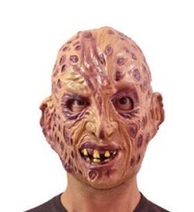 Maschera in gomma di freddy krueger per halloween