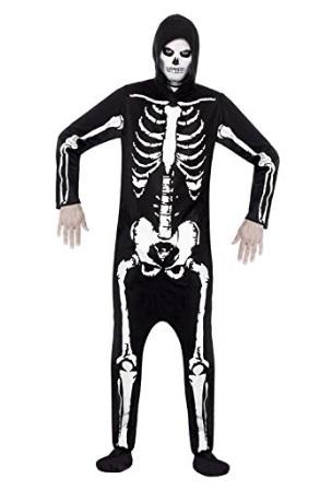 Costume intero scheletro per adulti halloween