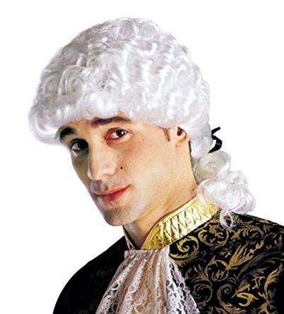 Parrucca bianca stile mozart taglia unica