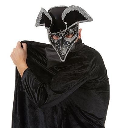 Maschera nera da uomo veneziana