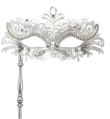 Maschera Con Bastone Tipica Veneziana