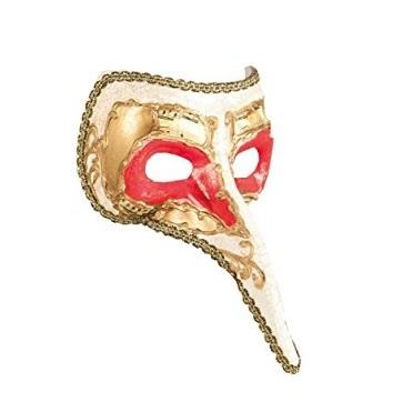 Maschera Con Naso Lunga Tipica Veneziana