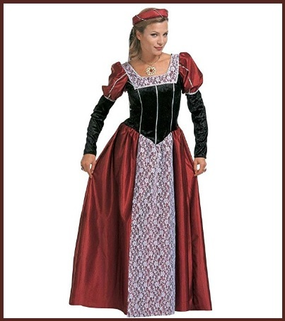 Vestiti teatrali da donna castellana