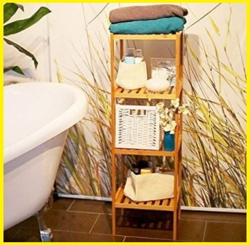 Carrello bagno legno