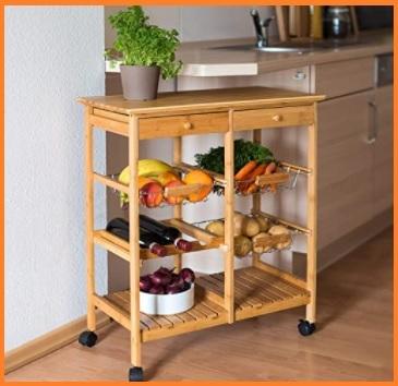 Carrello portafrutta in legno miglior prezzo