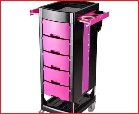 Carrello parrucchiere rosa