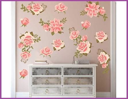 Carta da parati camera da letto fiori