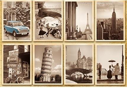 Cartoline con sfondo paesi del mondo