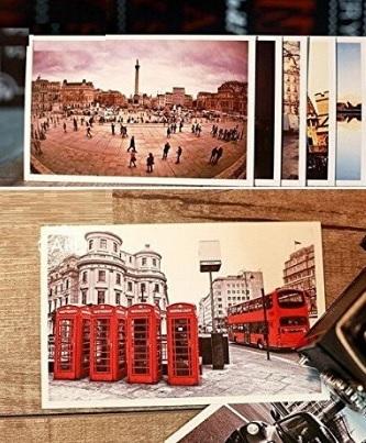 Cartoline romantiche con la città londra