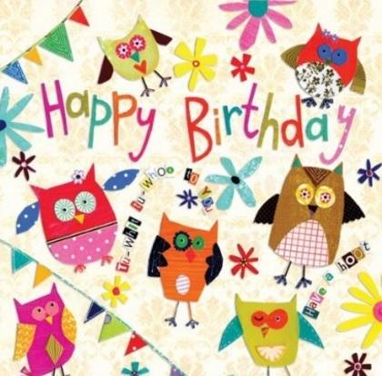 Cartoline vari disegni per auguri di compleanno