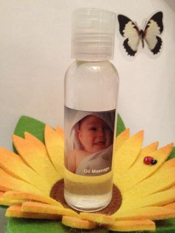 Baby oil massage rilassante armonizzante