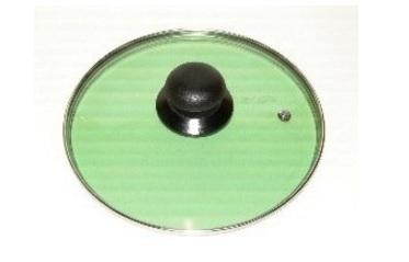 Coperchio vetro resistente verde trasparente