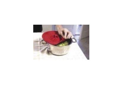 Chiusura coperchio per pentola rosso in silicone