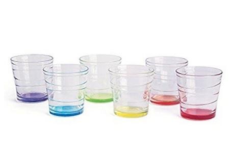 Bicchieri con fondo colorato in vetro