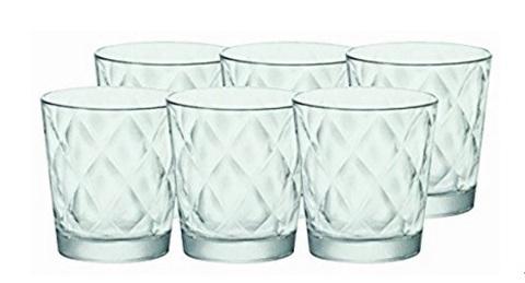 Bicchieri in vetro unici per acqua