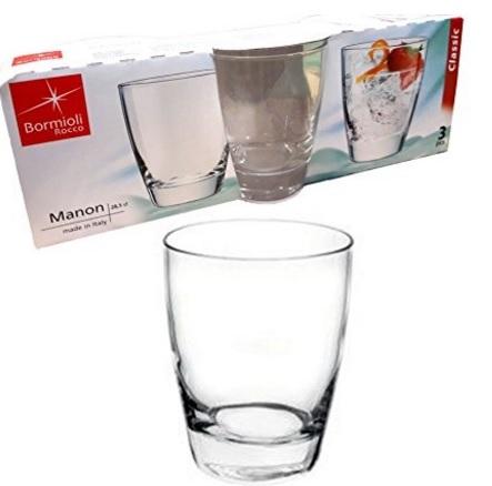 Bicchiere trasparente per cocktail o acqua 3 pezzi