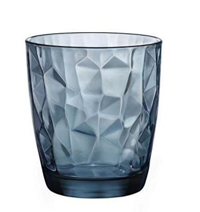 Bicchiere per cocktail in vetro a forma di diamanti